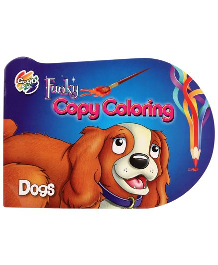 Chitra Funky Copy Colouring Book Dogs - English