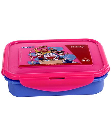 Doraemon Lunch Box - Dark Pink And Blue