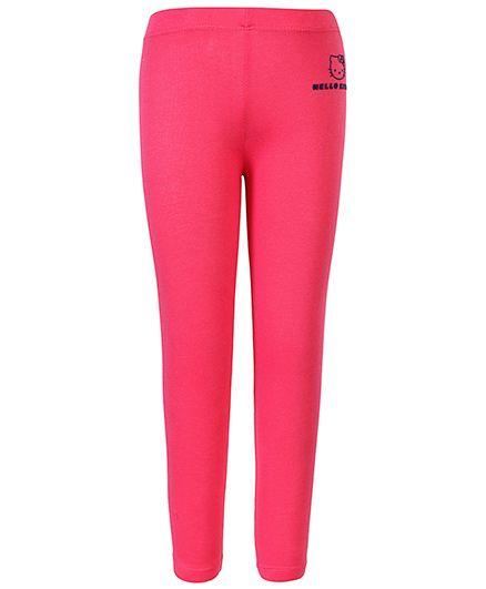 Hello Kitty Full Length Leggings Kitty Motifs - Pink