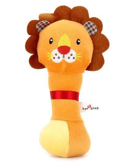 1st Step Soft Rattle Lion Face - Orange