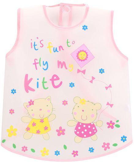 1st Step PVC Plastic Wearable Feeder Bib Kite Print - Pink