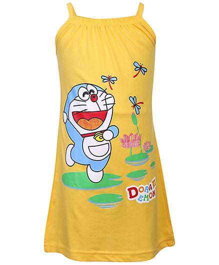 Doraemon Print Nighty - Yellow