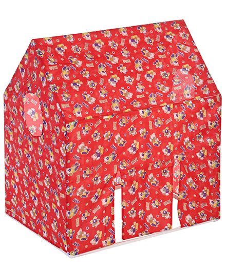 Lovely Play Tent House Gippi Teddy Print - Red