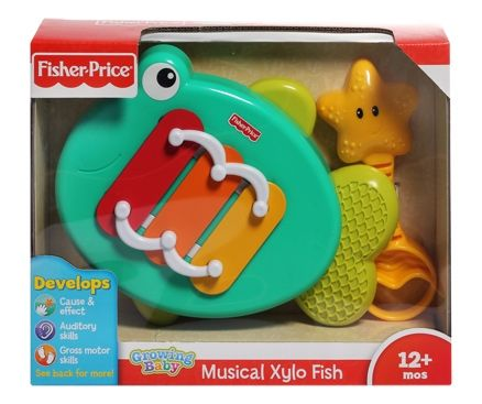 Fisher-Price - Growing Baby - Musical Xylo Fish