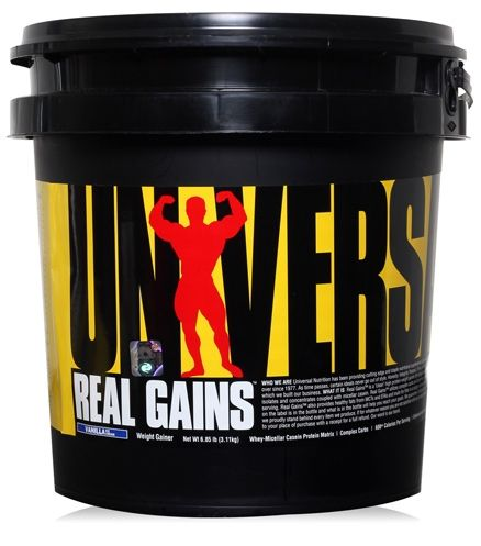 Universal Nutrition Real Gains Weight Gainer  -  Vanilla Ice Cream