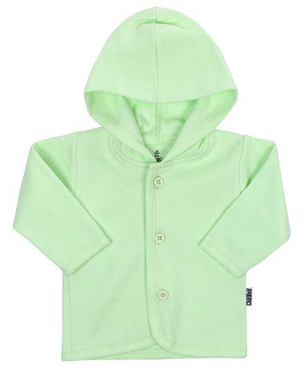 Child World Full Sleeves Hooded Vest - Green