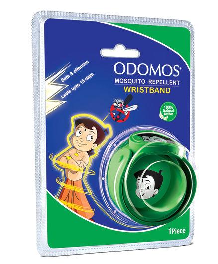 Dabur Odomos Mosquito Repellent Wrist Band Green - 1 Piece