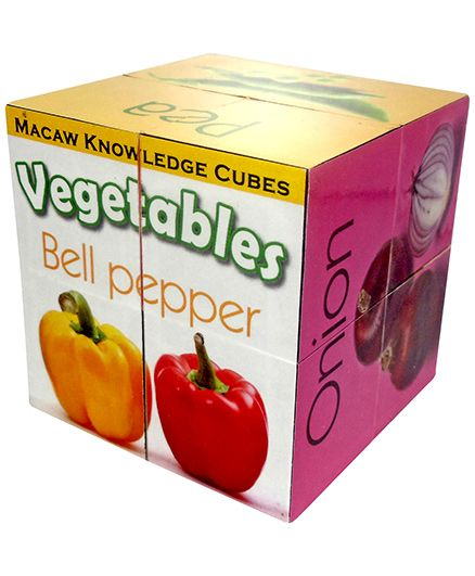 Macaw Knowledge Cubes - Vegetables