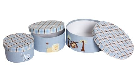 Round Storage Boxes - Safari