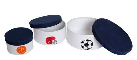 Abracadabra Round Storage Boxes - Sport League