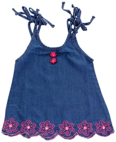 Infancy - Singlet Frock with Flower Print