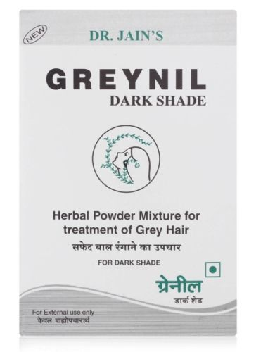 Dr. Jain's Dark Shade Greynil Herbal Powder Mixture