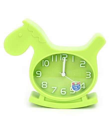 Kids Alarm Clock Horse Shape - Green