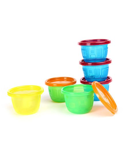 The First Years Take And Toss Snack Cups Pack Of 6 Multicolor - 133 ml