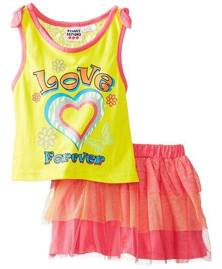Peanut Buttons Yellow Love Forever Skirt Set