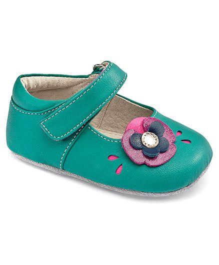 See Kai Run Aqua Mary Jane with Flower