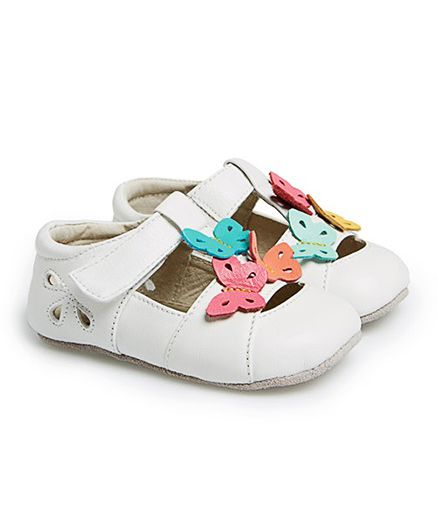 See Kai Run White Sandal with Butterflies