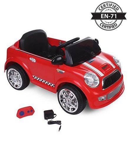 Babyhug My First Car 6V Rechargeable Battery Operated Ride On - Red