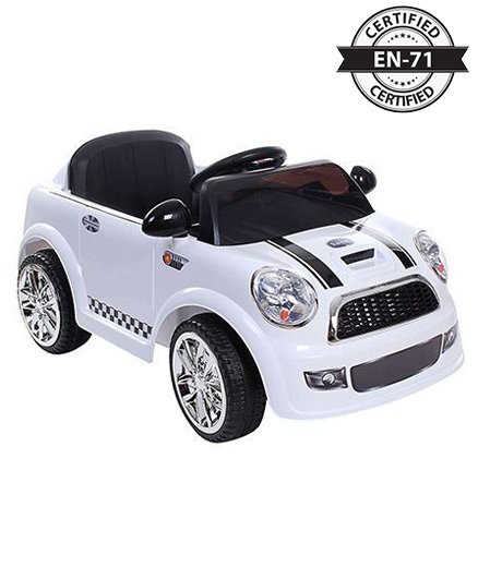 Babyhug My First Car 6V Rechargeable Battery Operated Ride On - White