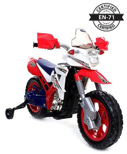 Babyhug Kids Dirt Bike 6V Rechargeable Battery Operated Ride On - Red