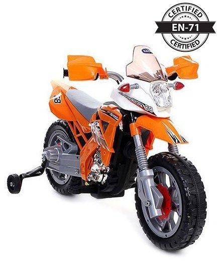 Babyhug Kids Dirt Bike 6V Rechargeable Battery Operated Ride On - Orange