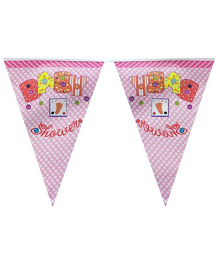 Partymanao Flag Banner Baby Shower Theme - Pink