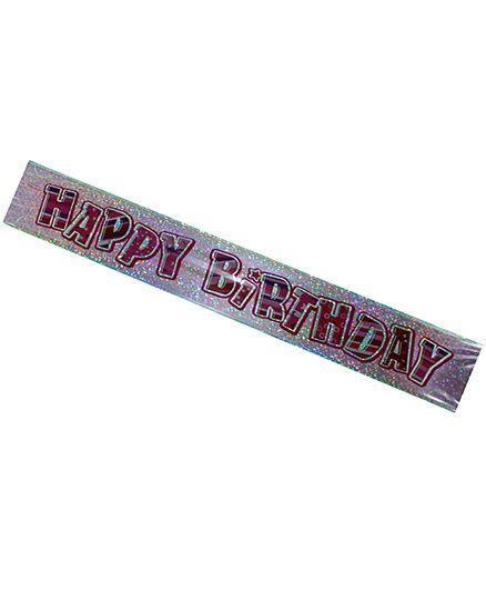 Partymanao Happy Birthday Scroll - Pink