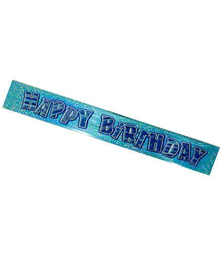 Partymanao Happy Birthday Scroll - Blue