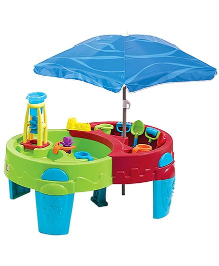 Shady Oasis Sand And Water Play Table With Umbrella