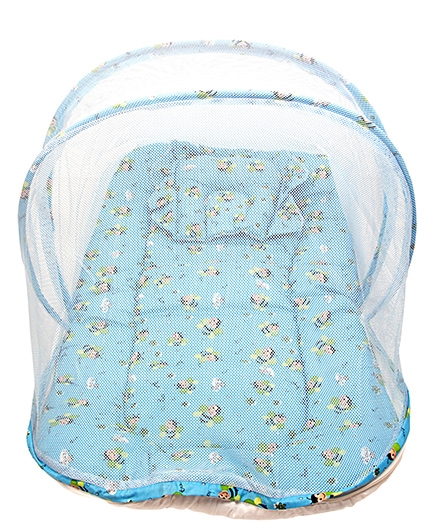 Morisons Baby Dreams Mosquito Net Bed Bee Theme - Blue