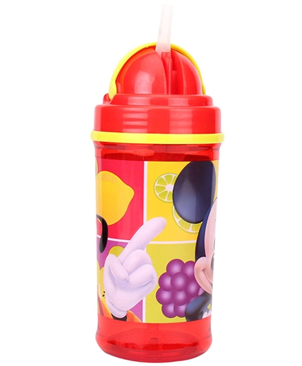 Disney Mickey Mouse And Friends Sipper Bottle Red And Yellow - 350 ml