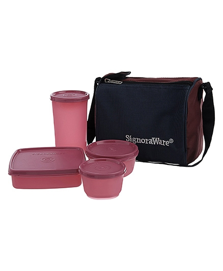 Signoraware Best Lunch Box With Bag - Assorted Colors