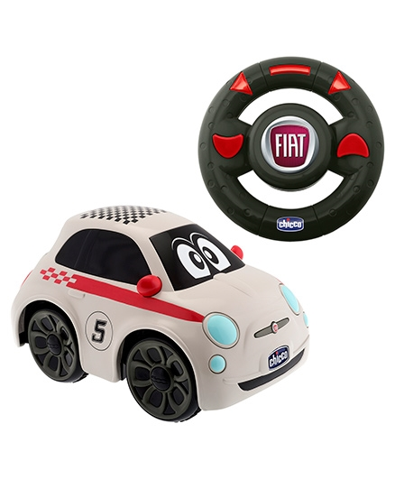 Chicco Fiat 500 Remote Control Car - White