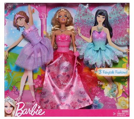 Barbie 3 Fairytale Fashions