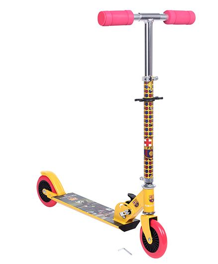 My Baby Excels FCB 2 Wheel Scooter - Yellow And Pink