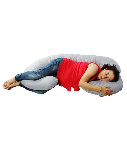 Comfeed Pillows By Nina Checkered Pregnancy Pillow - Black And White