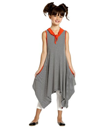 Summer Dress - Black And White