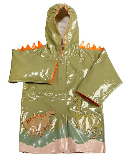 Kidorable Green Dinosaur Raincoat