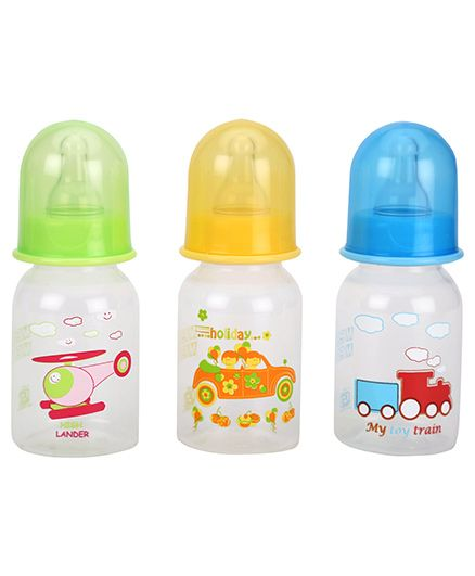 Mee Mee Premium Feeding Bottle Pack Of 3 - 125 Ml Each