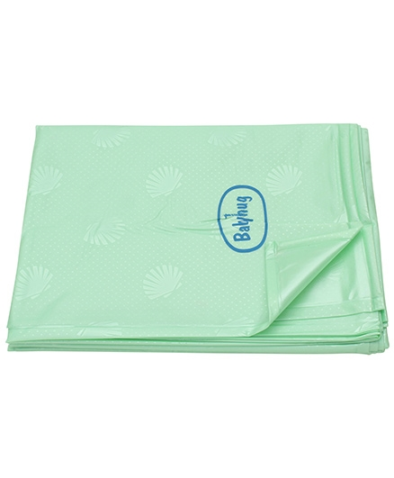 Babyhug Pearl Finish Plastic Bed Protector Sheet XXL - Green