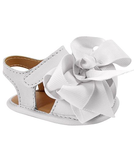 Baby Deer Crawling Stage Sandals - White
