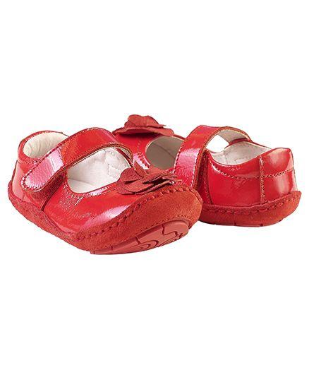 Rileyroos Fiona In Scarlet Baby Shoe