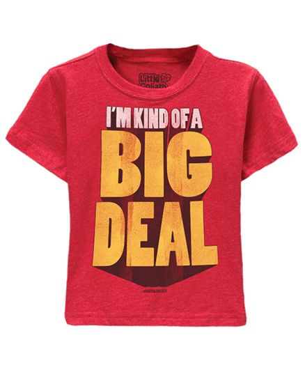 Toddler Tee Caption Print Im Kind Of A Big Deal - Vintage Red