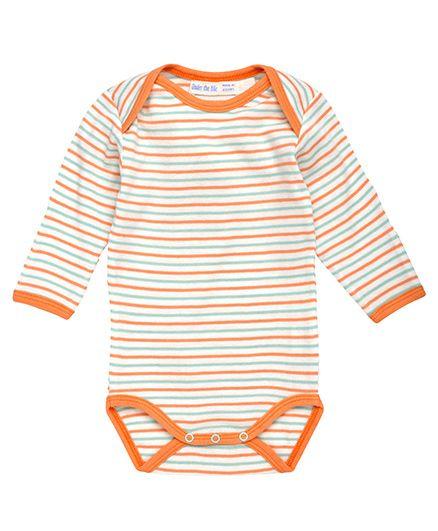 Under The Nile Long Sleeves Babybody Stripe Pattern - Orange