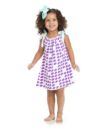 Judanzy Dainty Bird Dress - Purple