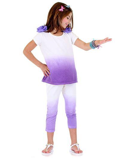 Bonny Billy & Blue Dress And Legging Set - Purple