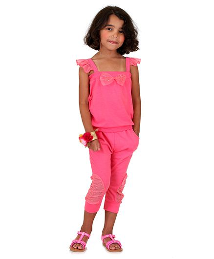 Bonny Billy & Blue Top And Legging Set With Bow - Pink