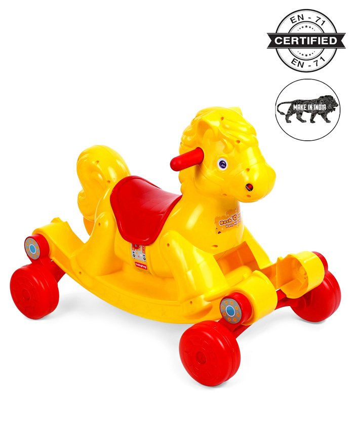 Babyhug Rock O Ride Pony Ride-on - Yellow