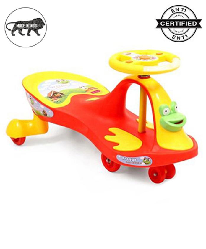 Babyhug Froggy Gyro Swing Car - Red