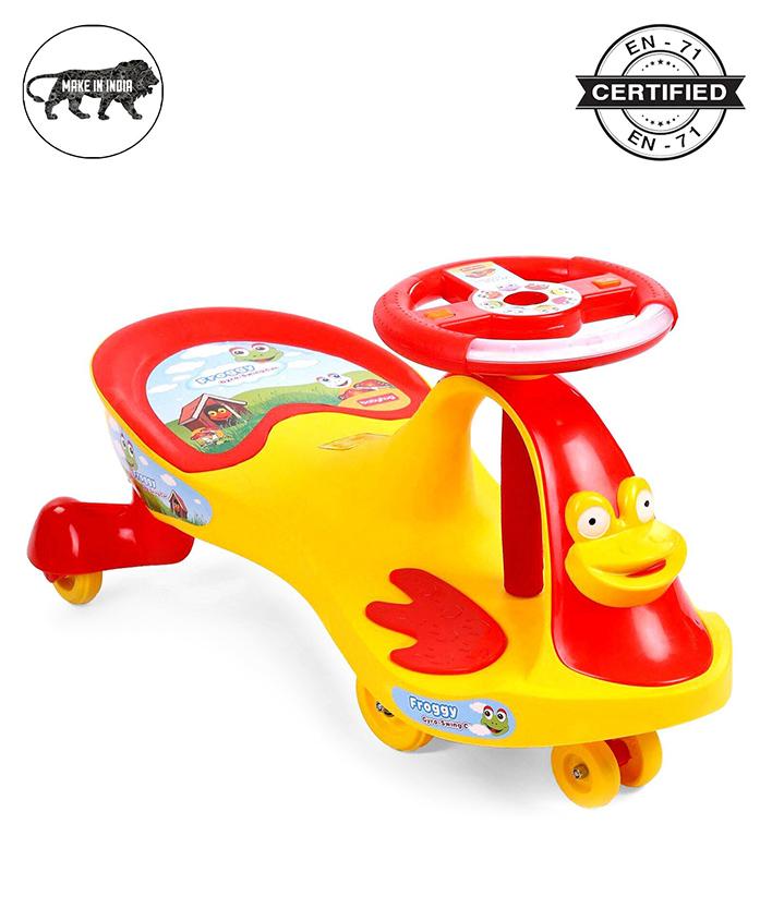 Babyhug Froggy Gyro Swing Car - Yellow
